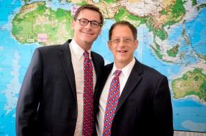 Energiya USA CEO David Herskovits with Energiya Global CEO Yosef Abramowitz